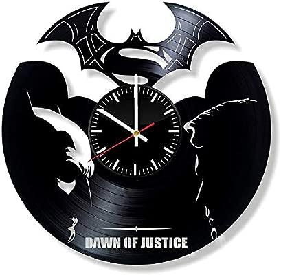 LKCAK Batman vs Superman Vinyl Clock - DC Comics Wall Art ...