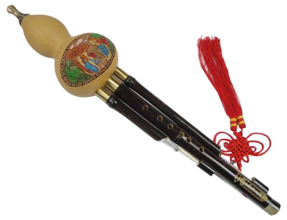 竹3オクターブ中国葫蘆絲フルートウッドウィンド#105 +ケース+遊びガイド B077RNK88S EbEb