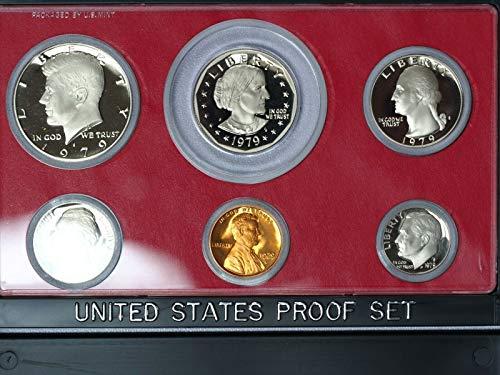 (1979 S Type-II 6-Coin Proof Set GEM Rare Type 2 Set in Original Box)