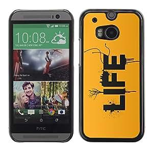 TECHCASE**Cubierta de la caja de protección la piel dura para el ** HTC One M8 ** LIFE