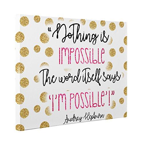 Audrey Hepburn Motivational Quote CANVAS Wall Art Home Décor by Paper Blast