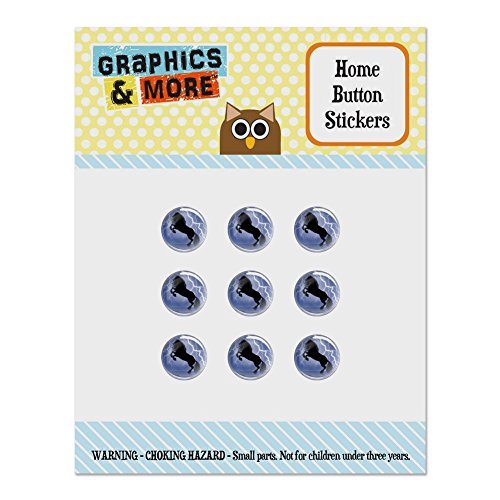 - Black Friesian Horse Rearing Up in Storm Set of 9 Puffy Bubble Home Button Stickers Fit Apple iPod Touch, iPad Air Mini, iPhone 5/5c/5s 6/6s 7/7s Plus