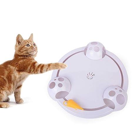Womdee Pounce Juguete para Gatos, Juguete de Entrenamiento Interactivo automático para Gatos, Placa de