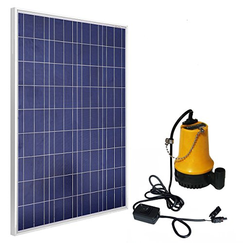 ECO-WORTHY Solar Powered Pump Kit: 100W Solar Panel with Water Pump for Garden Pond Fountain Pool (Solar Panel Kit 100w compare prices)