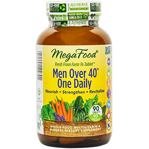 MegaFood – Men Over 40 One Daily, Promotes Immune Health & Well-being, 90 Tablets (FFP)