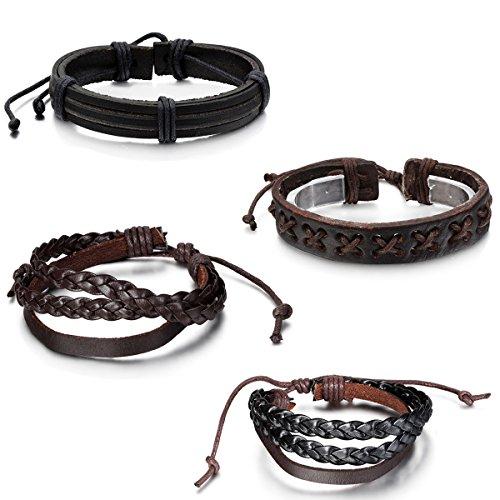 Aroncent Leather Wristband Friendship Bracelet