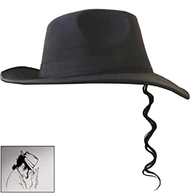 a3c22fa96 Thriller9 MJ Michael Jackson Hat Fedora with Sunglasses Bunch Wig ...