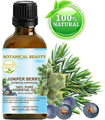 JUNIPER BERRY ESSENTIAL OIL - Juniperus communis. 100% Pure Therapeutic Grade, Premium Quality, Undiluted. 0.17 Fl.oz - 5 ml.