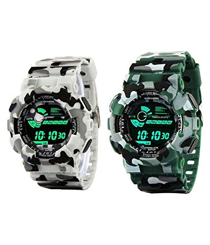 Digital Army Sports Watch Combo by Squirro for Men's & Boys (Set of 2) – sq_wg01