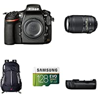 Nikon D810 FX-Format DSLR Camera with 55-300mm Lens Deluxe Battery Grip Bundle