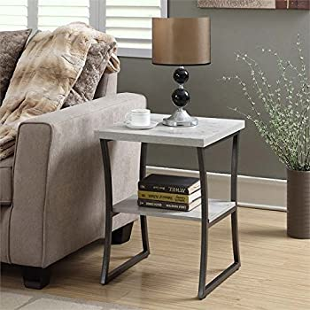Convenience Concepts X Calibur End Table, Faux Birch