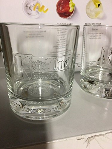 Vodka Glass - Ketel One Signature Rocks Glasses New 2017 Edition - Set of 2