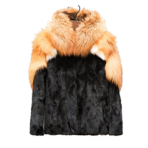Denny&Dora Men's Fox Fur Coat Mink Fur Coat Only Custom Super Warm (Golden, Custom) - Golden Mink Fur Coat