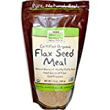 Now Foods, Real Food, Certified Oragnic Flax Seed Meal, 12 oz (340 g) - 3PC