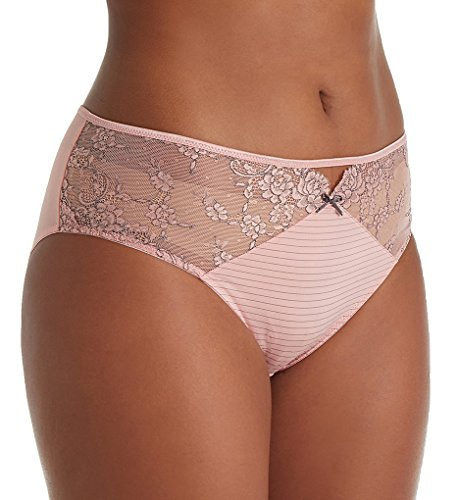 Ashley Graham Basic Hi Cut Brief Panty (400760) XL/Mellow Rose