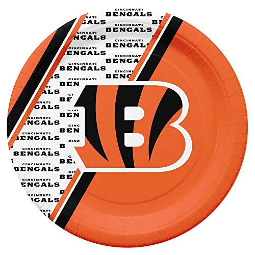 NFL Cincinnati Bengals Disposable Paper Plates, Pack of 20