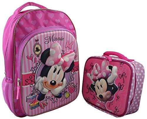 Disney Minnie Girls3D Backpack Lunchbox