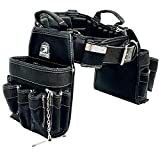 """TradeGear Large Electrician's Combo Belt & Bags - MEASURE WAIST WITH CLOTHING ON FOR MORE ACCURATE FITTING OF BELT (35""""-39"""") Partnered with Gatorback Contractor Pro"""