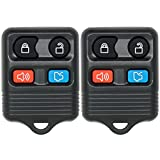 Keyless2Go New Keyless Entry Remote Car Key Fob Replacement for Select Ford Escape, Expedition, Explorer, Focus, Fusion, Taurus and More (2 Pack)