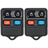 Replacement Keyless Entry Remote Car Key Fob for 4 Button CWTWB1U331 by Keyless2Go (2 Pack)