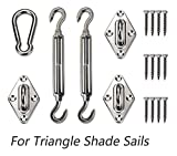 Love Story Hardware Kit 6 Inches 316 Stainless Steel for Triangle Sun Shade Sail Installation