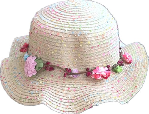 kulala Kids Girls cap,garland wave design design children's sun hat, beige from kulala