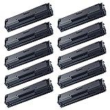 AMTONER 10 Packs Compatible Samsung MLT-D111S MLTD111S 111S MLT D111S Laser Toner Cartridge 2K Black for Xpress SL-M2020W M2070W M2070FW SL-M2070W/FW SL-M2070FW/XAA Wireless Monochrome Printers