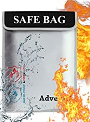 ★ FIRE AND WATERPROOF SAFE BAGS: Thinking about what will happen in case of fire with you documents and etc? Our fireproof document bag can protect your valuables from fire .       ★ It is made with high quality silicone fiberglass mat...