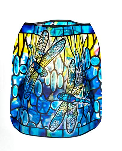 MODGY Luminary Lanterns 4-Pack - Floating LED Candles with Batteries Included - Luminaries are Great for Weddings, Parties, Patios & Celebrations of All Kinds (Dragonfly) -