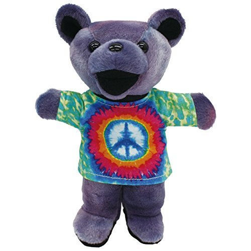 "Grateful Dead Bean Bear 7 inch ~ TIE DYE JERRY ""PEACE GR"" ~ Edition 2"