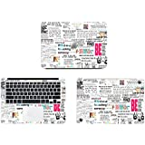Theskinmantra Life Lessons full body decal/sticker/vinyl for Apple Macbook Air 13, A pack of 3 pcs