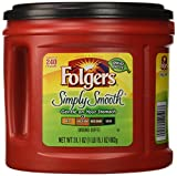 Folgers Simply Smooth Ground Coffee, Medium Roast, 31.1...