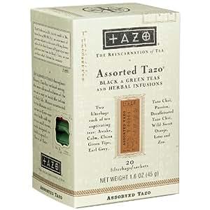 Tazo Assorted Tea Sampler, 20 Tea Bags