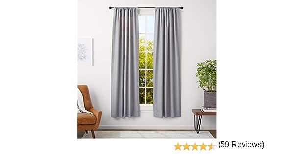 AmazonBasics - Bastone per tenda, con terminali rotondi, da 71 a 122 cm, diametro 1,6 cm, caffè (bronzo scuro): Amazon.es: Hogar