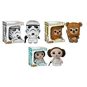 Fabrikations: Star Wars Stormtrooper, Wicket, Princess Leia Plush Figures Set of 3