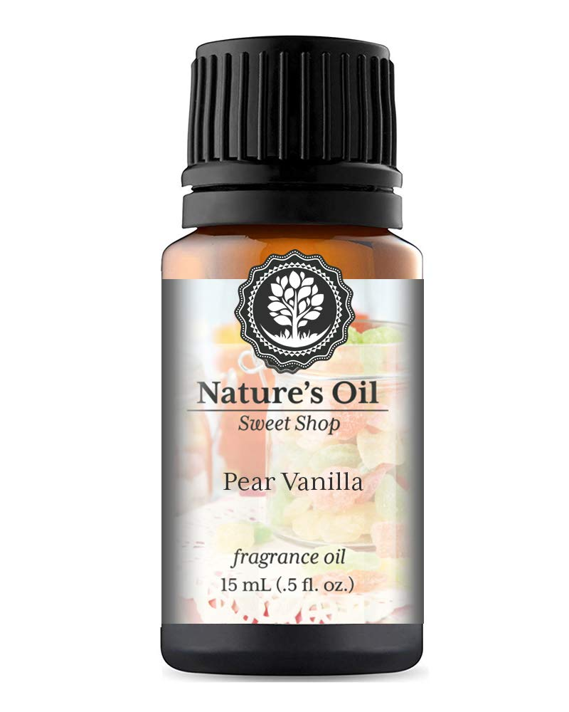Pear Vanilla Fragrance Oil (15ml) For Diffusers, Soap Making, Candles, Lotion, Home Scents, Linen Spray, Bath Bombs, Slime