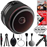 Opteka 6.5mm f/2 HD MC Manual Fisheye Lens for Canon EF-M M100 M10 M6 M5 M3 M2 Plus Bonus 16GB 12PC Bundle