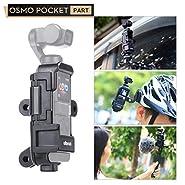 ULANZI OP-7 Vlog Extended Housing Case for DJI Osmo Pocket, Vlogging Tripod Mount Holder with Mic Cold Shoe Mount 3 Go Pro Interface 1/4''-20 Screw for DJI Osmo Pocket Film Videomaking
