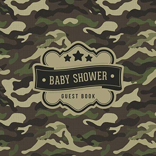 Baby Shower Guest Book: Camo Camouflage Pattern | + BONUS Gift Tracker Log | Keepsake Guestbook | Advice Wishes and Predictions (Pink Camo Baby Invitations)