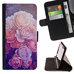 Jordan Colourful Shop - Begonia Vignette Retro Poster Sepia For Apple Iphone 6 - Leather Case Absorci???¡¯???€????€????????&ce