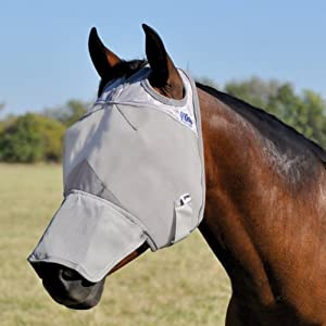 Cashel Crusader Horse Fly Mask, Long Nose 1
