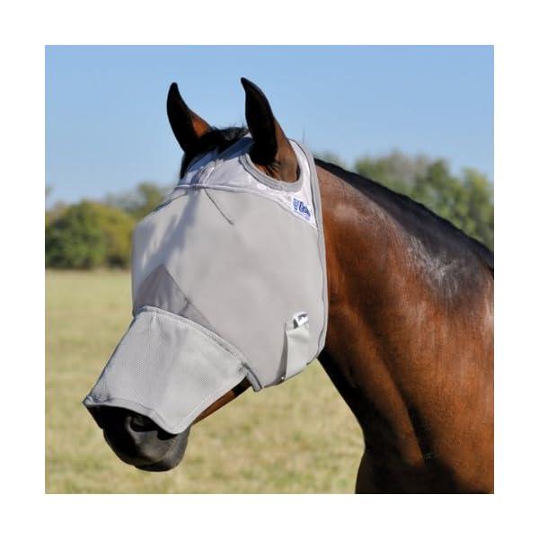Cashel Crusader Horse Fly Mask, Long Nose 1