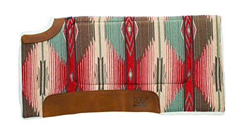 Weaver Leather All Purpose Cut Back Saddle Pad, Red/Turquoise