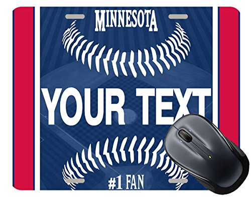BRGiftShop Customize Your Own Baseball Team Minnesota Square Mouse Pad - Minnesota Twins Mouse