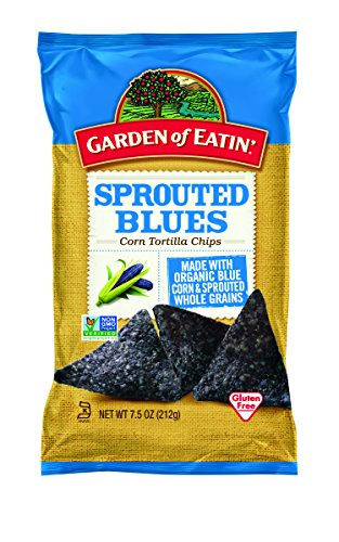 Garden of Eatin' Sprouted Blues Corn Tortilla Chips, 7.5 oz (Eden Chips)