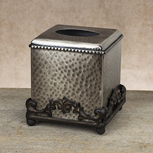 GG Collection Hammered Silver Tissue Box