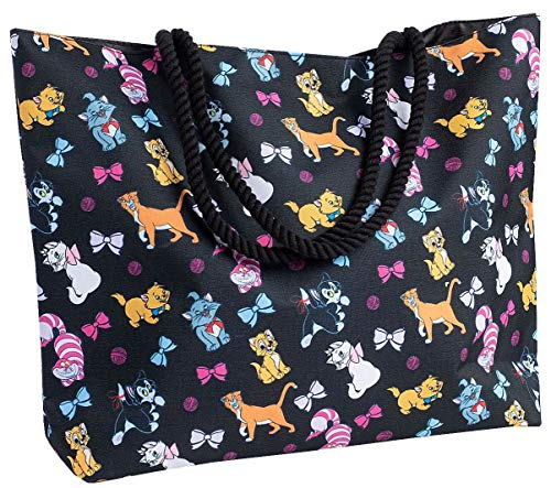 Disney Tote Travel Bag Cats Print: Figaro Cheshire Oliver & Co Marie Aristocats