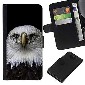 Leather Etui en cuir || Samsung ALPHA G850 || Hermoso Águila Falcon Hawk @XPTECH