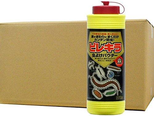 ピレキラ虫よけパウダー 550g×24本 粉末殺虫剤 B07DR9YT3H