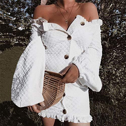 Maglioni Manica Abito Bianca Della Primavera Cocktail A Autunno Mini Da Partito Donne Moda Vestiti Vestito Oufour Festa Maglieria Lanterna Tubino Fcl3JuT1K